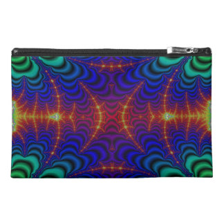 Red Yellow Blue Green Wormhole Fractal Travel Accessory Bags
