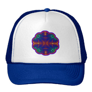 Red Yellow Blue Green Wormhole Fractal Trucker Hat