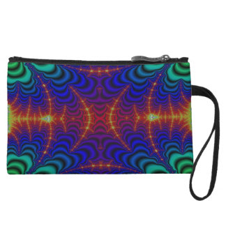 Red Yellow Blue Green Wormhole Fractal Wristlet