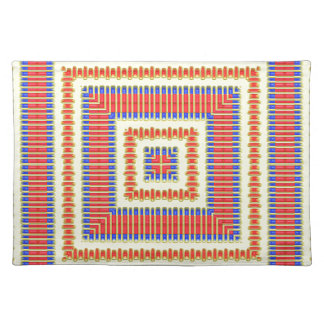 Red Yellow Blue Native American Fabric Design Placemat