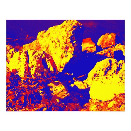 Red yellow blue rock abstract Ft. Pierce Full Color Flyer