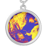 Red yellow blue rock abstract Ft. Pierce Custom Necklace