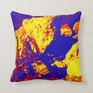 Red yellow blue rock abstract Ft. Pierce Pillow