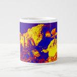 Red yellow blue rock abstract Ft. Pierce 20 Oz Large Ceramic Coffee Mug