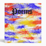 Red Yellow Blue scribble splats colorful design 3 Ring Binder