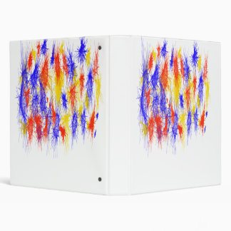 Red Yellow Blue scribble splats colorful design Vinyl Binder