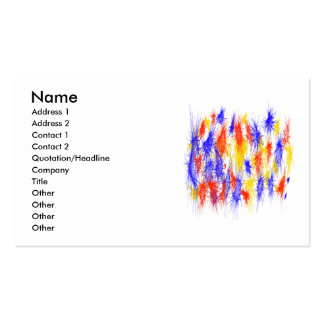 Red Yellow Blue scribble splats colorful design Business Card Template