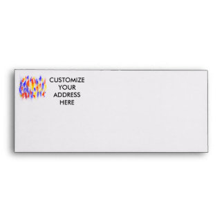 Red Yellow Blue scribble splats colorful design Envelope