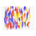 Red Yellow Blue scribble splats colorful design Custom Announcement