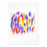Red Yellow Blue scribble splats colorful design Invite