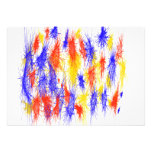 Red Yellow Blue scribble splats colorful design Personalized Invites