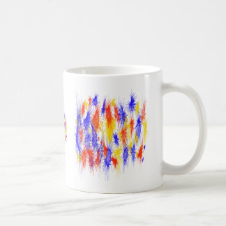 Red Yellow Blue scribble splats colorful design Coffee Mugs