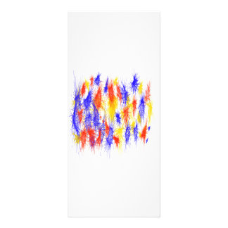 Red Yellow Blue scribble splats colorful design Rack Card Template