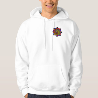 Red Yellow Blue Spiral by Kenneth Yoncich Hoodie