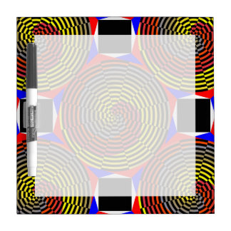 Red Yellow Blue Spiral Dry Erase Board