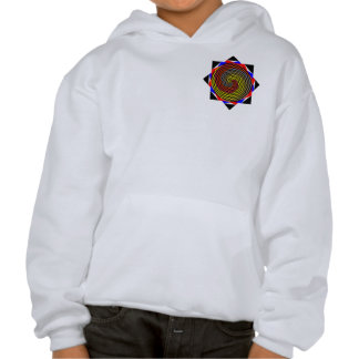 Red Yellow Blue Spiral Hoodie