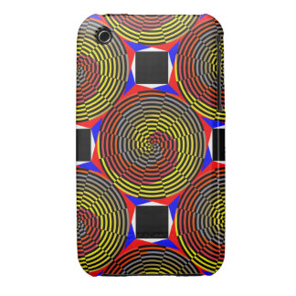 Red Yellow Blue Spiral iPhone 3 Case-Mate Case