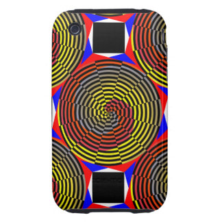 Red Yellow Blue Spiral iPhone 3 Tough Case