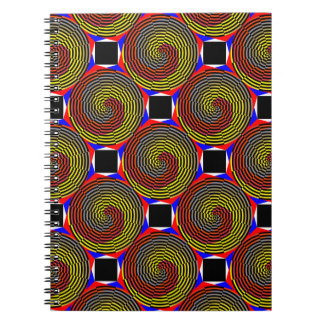 Red Yellow Blue Spiral Notebook