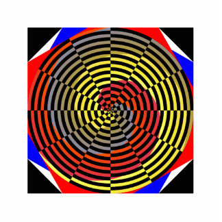 Red Yellow Blue Spiral Statuette