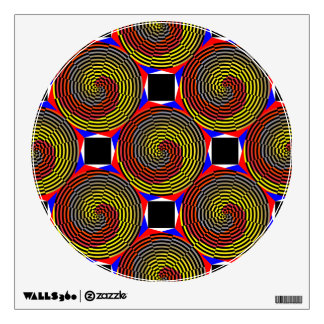 Red Yellow Blue Spiral Wall Decal
