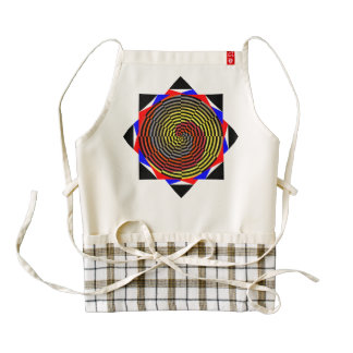 Red Yellow Blue Spiral Zazzle HEART Apron