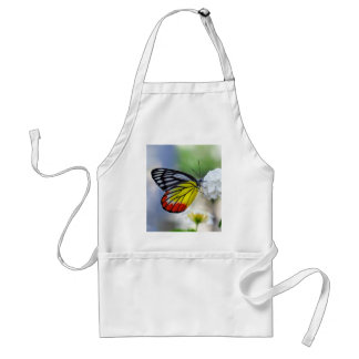 Red yellow butterfly Painted Jezebel Apron