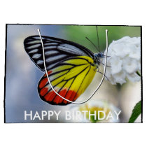 Red yellow butterfly Painted Jezebel Large Gift Bag