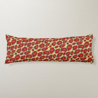Red Yellow Cheetah Pattern Body Pillow