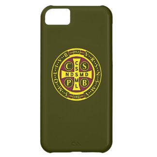 red yellow clear St Benedict Medal Cover For iPhone 5C