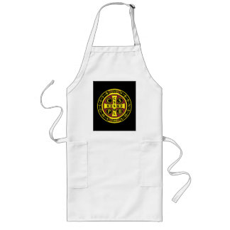 red yellow clear St Benedict Medal Long Apron
