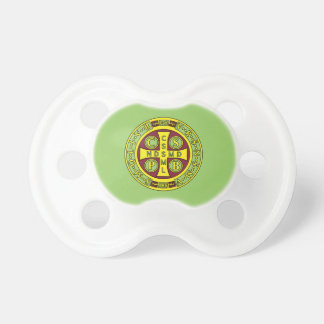 red yellow clear St Benedict Medal Pacifier