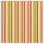 [ Thumbnail: Red & Yellow Colored Lines Pattern Fabric ]