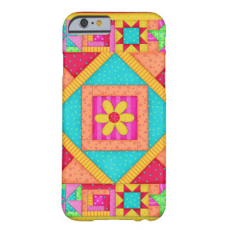 Red Yellow Colorful Patchwork Quilt Art Barely There iPhone 6 Case