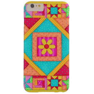 Red Yellow Colorful Patchwork Quilt Art Barely There iPhone 6 Plus Case