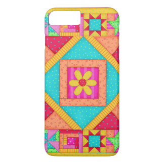 Red Yellow Colorful Patchwork Quilt Art iPhone 8 Plus/7 Plus Case