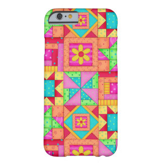 Red Yellow Colorful Patchwork Quilt Block Art iPhone 6 Case