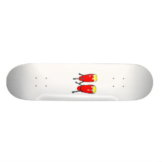 Red Yellow Congas in stands graphic image Skateboard Deck