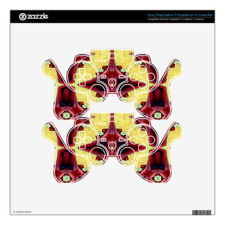 Red Yellow Cool Hip Geometric  Shapes PS3 Controller Skin