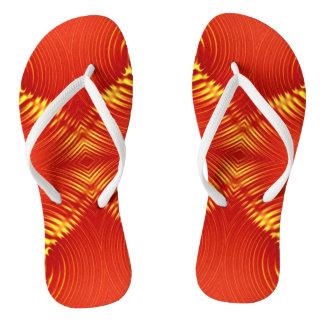Red yellow Diamond shape Flip Flops