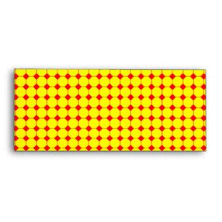 red & yellow envelope