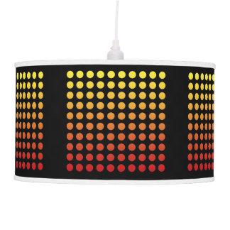 Red/Yellow Fade Black Polka Dot Pendant Lamp