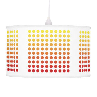 Red/Yellow Fade White Polka Dot Pendant Lamp