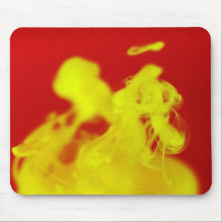 Red Yellow Fire Ink Drop Photography Mouse Pad