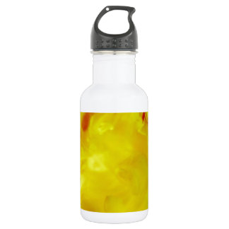 Red Yellow Fire Ink Drop Photography Water Bottle