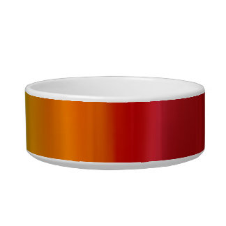 Red yellow fire rainbow bright colorful dog bowl