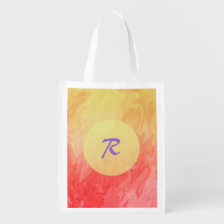 Red Yellow Flame Texture Background Grocery Bag
