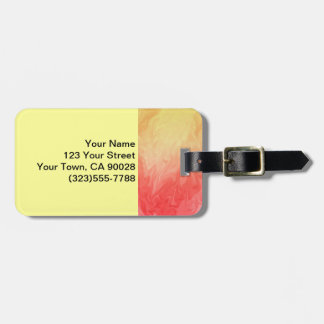Red Yellow Flame Texture Background Luggage Tag