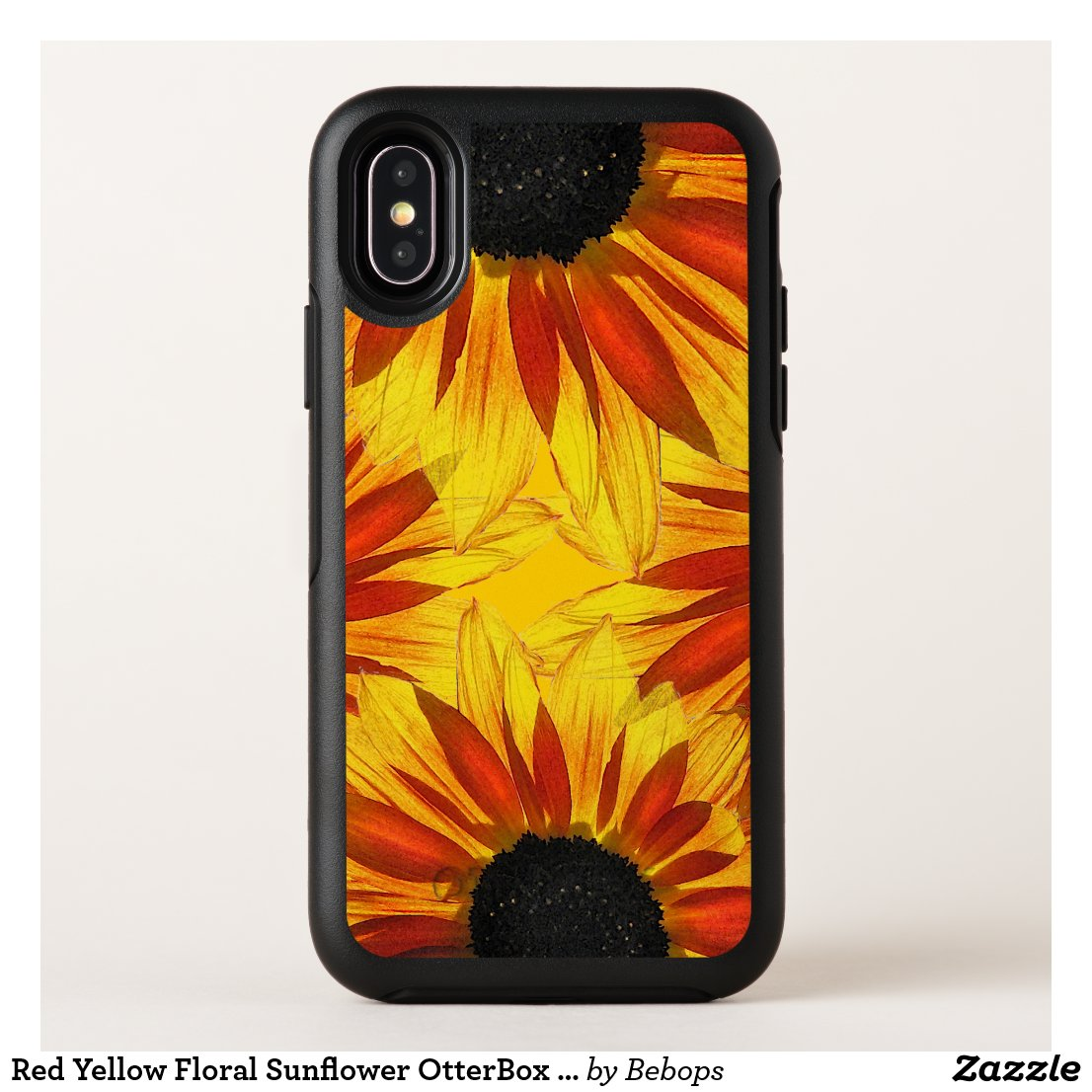 Red Yellow Floral Sunflower OtterBox iPhone X Case