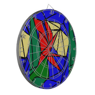 Red Yellow flowers Dart Board